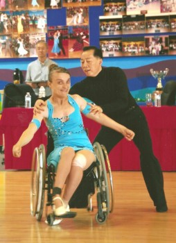Olesia and Andy wheelchair sport